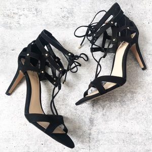 New Vince Camuto Strappy Lace Up Heels